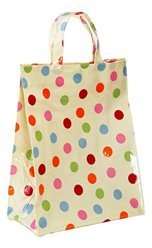 Cooksmart - Borsa in PVC a pois, multicolore, media