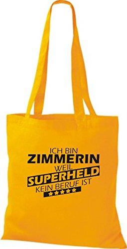 Tote Bag Shirtstown Sono Carpentiere Perché Il Supereroe Non È Una Professione Gialla