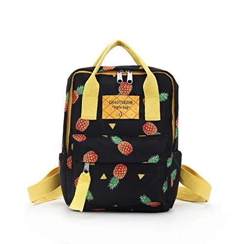 Yooshen Rucksack Mädchen, Mode Kleine Leicht Nylon Wasserdicht Multi-Taschen im Freien Freizeit Starke Daypack Backpack für Damen