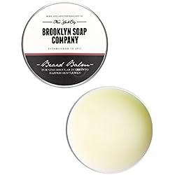 cuidado natural de barba: Beard Wax bálsamo para la barba(20 g)✔cosméticos naturales de la BROOKLYN SOAP COMPANY para un styling de la barba de tres días, barba cerrada - fijación fuerte, tenue brillo