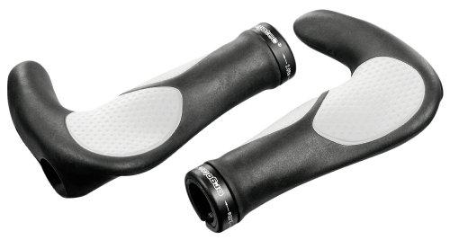ergotec Lenkergriffe Aksb-09.2/2, schwarz/weiß, 61536001 (Schwarz Und Weiß Kobe 9)