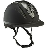 Hkm Casco de Equitación–Carbon Art Negro Negro Mate