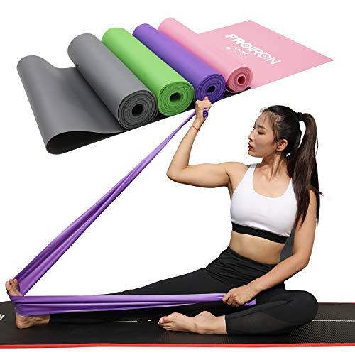 Proiron banda elastica lattice fitness resistenza bande elastiche fasce elastiche fascia di allenamento per pilates yoga, allenamento palestra crossfit o riabilitazione (rosa - 2m)