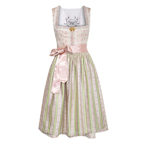 Tramontana Damen Trachten-Mode Midi Dirndl Thora in Beige Traditionell