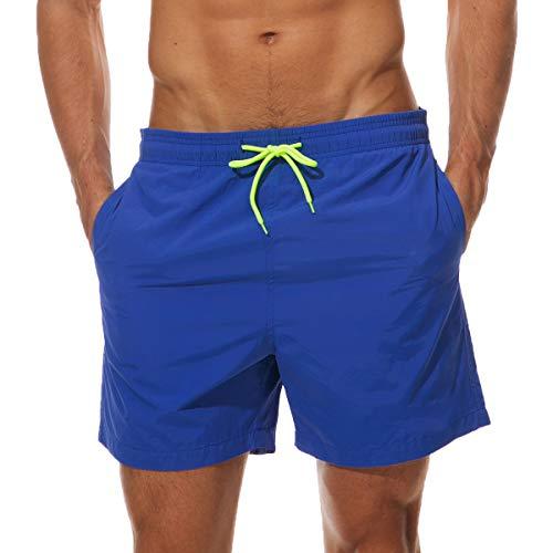 Neusky Herren Beachwear Badeshorts Badehose Schwimmshorts (Blau, M)