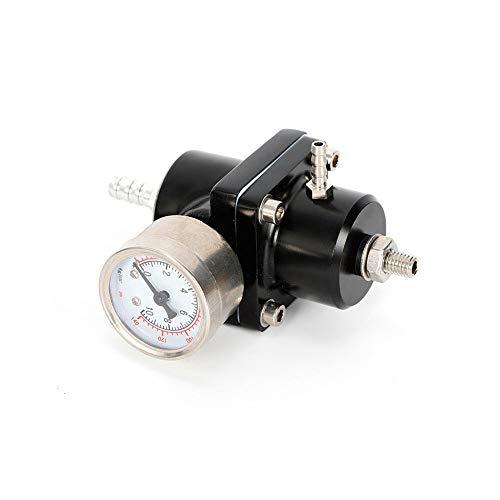 Benzindruckregler Universal 0-140PSI einstellbar mit Manometer inkl Zubehör