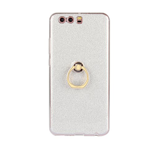 Meimeiwu 2 in 1 Ultra Slim TPU Bumper Back Cover Case Custodia With 360 Degree Rotating Ring per Huawei Honor 6 Plus - Oro Argento