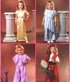 Costumes Gypsy Girl - McCall's 4949 Costume Pattern Girls Dress Up: