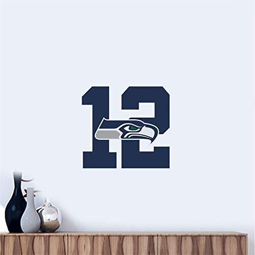 Wandtattoo Seattle Seahawks # 9 Team Logo Wandaufkleber Vinyl Wandaufklebe