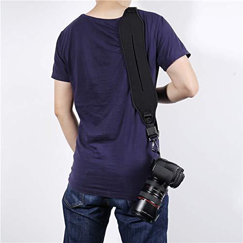 GOMAN Kameragurt Schultergurt Schnellverschluss Neopren Kamera Tragegurt Schultergurt Gurt für Canon Nikon Sony Fujifilm Olympus DSLR SLR - Schwarz