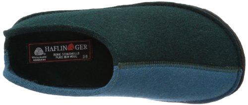 Haflinger Flai-Smily-Duo 311020 Pantofole unisex adulto Verde (Grün (tannengrüm 13))