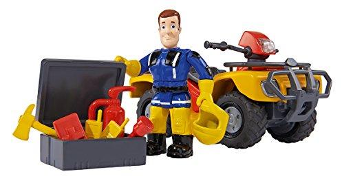 Simba 109257657 - Feuerwehrmann Sam Mercury-Quad mit Figur und Zubehör (Feuerwehrmann Spielzeug-fahrzeug Sam)