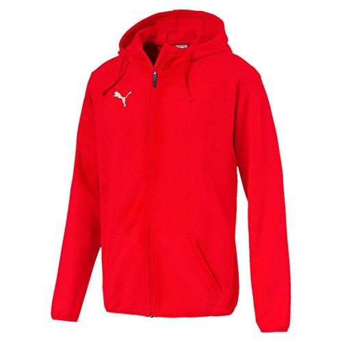 PUMA Herren Liga Casual Hoody Jacket Jacke Medium Gray Heather Black, XXL