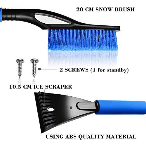 WINMAX-Raschietto-per-Ghiaccio-Snow-Brush-Scraper-di-Ghiaccio-2-in-1Spazzola-da-Neve-con-Raschietto-per-Il-Ghiaccio-Impugnatura-Morbida-Parabrezza-e-Finestra-Automatici-Spazzola-Strumenti
