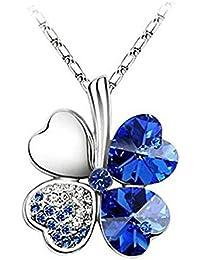 zhuotop 1pieza necesario para belleza Sweet colgante de brillantes de cristal moda collar con colgante en forma de corazón