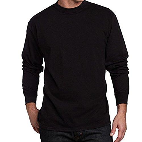 Manadlian Mode Herren Schwarz Hoodie Sweater Pullover Grau Sweatshirt Männer Junge Übergroße T-Stücke Kurzarm Baumwolle O-Ausschnitt Shirt Grau Bluse Lange Ärmel Schwarz Tops (Schwarz, XXXXL) (Lange Ärmel Bereich T-shirts)
