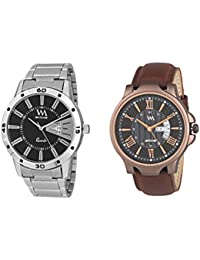Watch Me Day And Date Analog Watches Gift Combo Set Of 2 Watches For Men And Boys DDWM-017-023bys