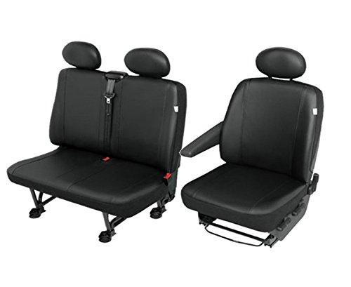 Kunstleder Sitzbezüge Sitzschoner Set Fahrersitz + Doppelbank robuste und Pflegeleichte ECO-Leder Maßgeschneidert  (Leder Maßgeschneiderte)