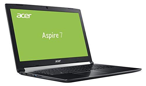 Acer Aspire 7 (A717-71G-556S) 43,9cm (17,3 Zoll, Full-HD, IPS, matt) Multimedia Notebook (Intel Core i5-7300HQ, 8GB RAM, 256GB PCIe SSD, NVIDIA GeForce GTX 1050 (2GB VRAM), Win 10, USB 3.1) schwarz
