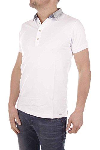 Diesel maglietta uomo camicia polo jeans colletto manica corta bianco (bianco, m)