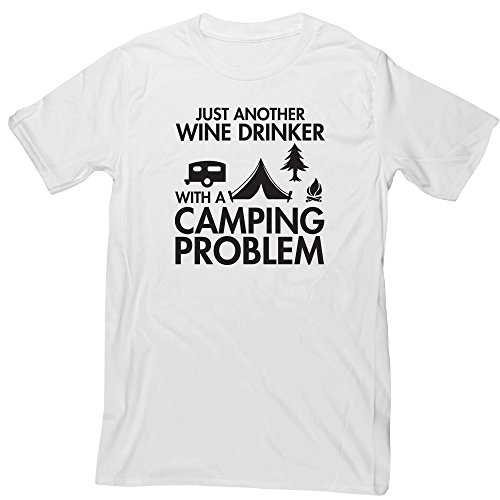 Hippowarehouse Just Another Wine Drinker with a Camping Problem Unisex Short Sleeve t-Shirt (Specific Size Guide in…