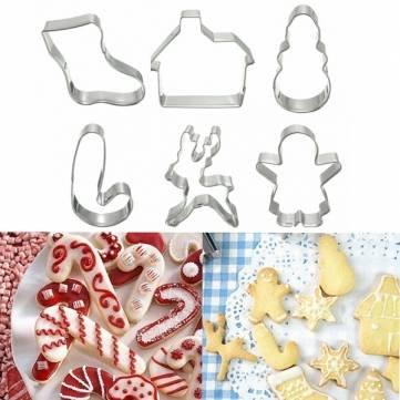 UR Bakeware 6Weihnachten Kekse Kuchen Cookies Cutter Gebäck Kuchen dekorieren Form