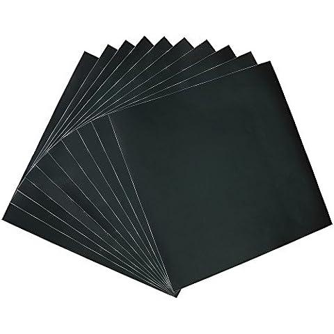 30,5x 30,5cm Nero Opaco (10fogli) Craft vinile adesivo permanente con vinile per progetti artistici, cricuts, sagome e pugni - Distintivo Punch