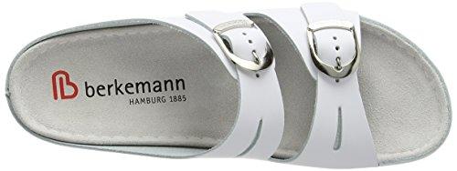 Berkemann 00742 Atlanta Lüneburg, Sandali donna Bianco