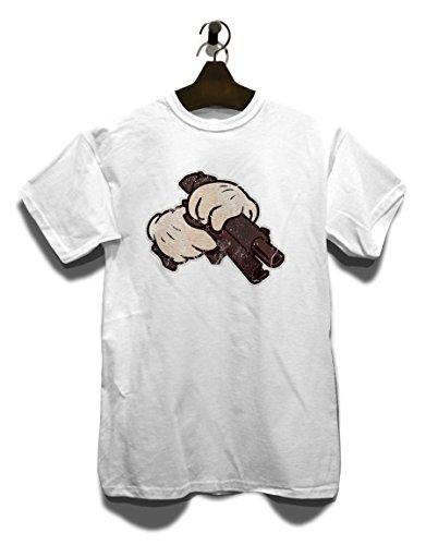 Cartoon Hand 02 Vintage T-Shirt Weiß