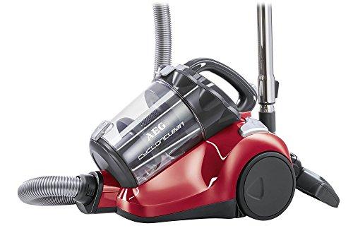 AEG-CyclonClean-ACC5130-Staubsauger-ohne-Beutel-EEK-B-800-Watt-inkl-Turbo-und-Hartbodendse-Hygiene-Filter-beutellos-rot