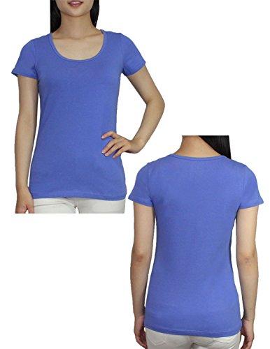 Unbekannt - T-shirt - Femme - Blau & Beige
