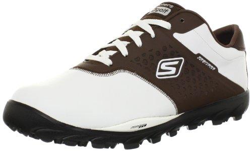 Skechers , Chaussures de golf pour homme Blanc weiss/braun Weiss/Brown Taille 40