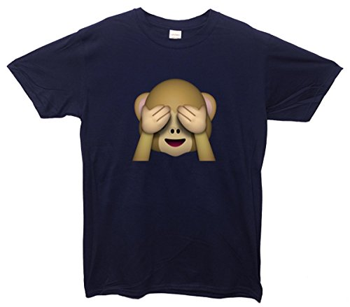 See-no-evil Monkey Emoji T-Shirt Navy