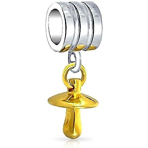 Bling Jewelry Argento Oro Vermeil Ciuccio ciondola branello di fascino Pandora Compatibile
