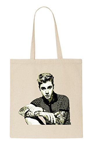 Justin Bieber Funny natürliche organische Tasche / natural organic Bag (Beige) (Justin-herren-natural)