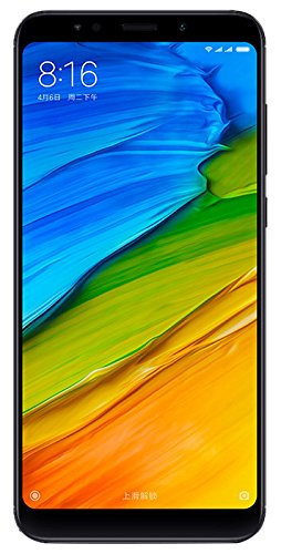 "Xiaomi Redmi 5 Plus Smartphone Dual SIM (15.2 cm (5.99""), 4 GB, 64 GB, 12 MP, Android, Nero"