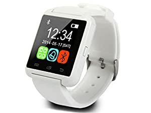 CASVO Infocus M350 COMPATIBLE Smart Android U8 Bracelet Watch and Activity Wristband, Wireless Bluetooth Connectivity Pedometer, WHITE,