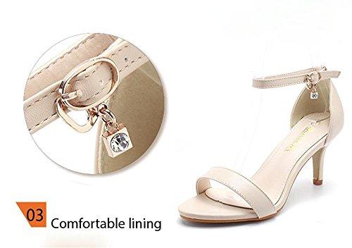 pengweiFibbia in strass con elegante postura con scarpe con tacco alto 2