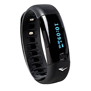 Everlast TR5 - Wireless Fitness Activity Tracker + Sleep Wristband With LED Display - Black