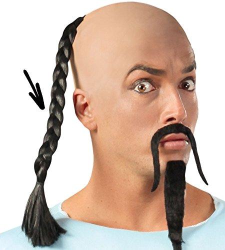 Treccia nera per travestimento cinese capelli intrecciati 40 cm