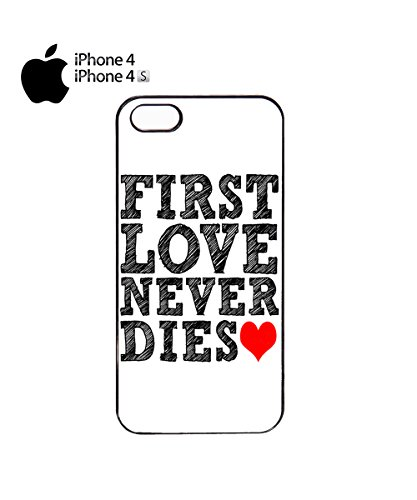 First Love Never Dies Red Heart Mobile Phone Case Cover iPhone 6 Plus + White Noir