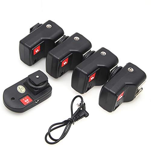 Bomcomi PT-04GY 4 Kanäle Wireless Remote Speedlite-Blitzauslöser 1 Sender und Empfänger 4 Ersatz für Canon Nikon