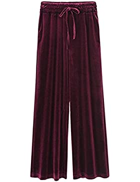 BOLAWOO Pantalones Mujer Pantalon Deporte Pantalones De Tiempo Libre Pants Pana Pantalones Anchos Elegantes Otoño...