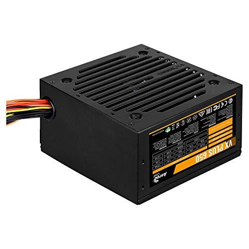 Aerocool VX Plus 650W ATX Noir unité d'alimentation d'énergie - Unités d'alimentation d'énergie (650 W, 47-63, 120 W, 600 W, 120 W, 3, 6 W)