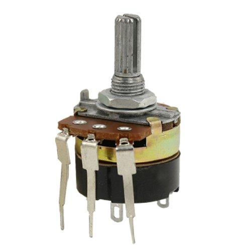 6mm gerändelt Schaft Drei Terminal 500K Ohm Linear Taper Potentiometer B500K B500k Potentiometer