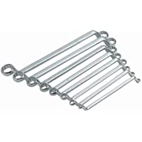 Ironside 113110, Set di chiavi ad anello doppio, 8 pz., in acciaio al cromo-vanadio