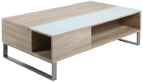 AC Design Furniture 0000051208 Nicolai Table Basse Bois Chêne/Blanc 110 x 60 x 35 cm