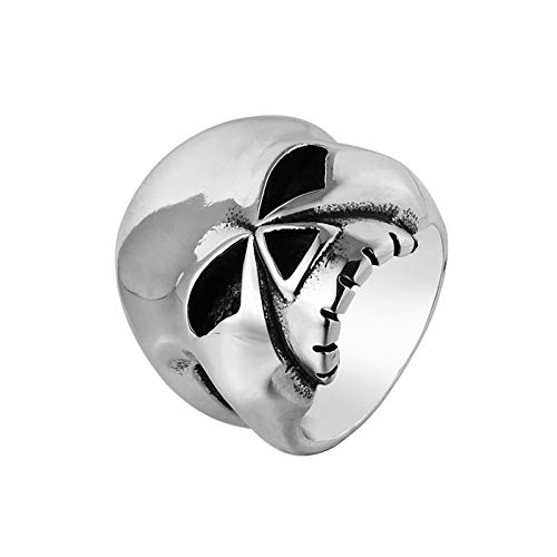 Aeici Gothic Ring Edelstahl Schädel Ringe Silber Größe 70 (22.3)