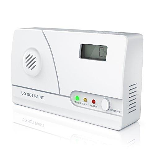 Brandson - Kohlenmonoxidmelder - CO Alarmmelder - Detektor - Sofortalarm - Speicherfunktion Langzeitmessung - Elektrochemischer Figaro-Gassensor - digitales 1,1 Zoll 28mm LCD-Display - DIN EN50291