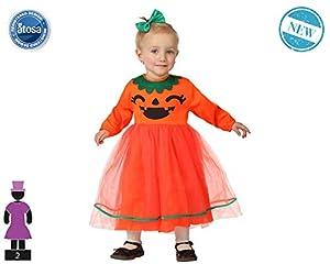 Atosa-61207 Atosa-61207-Disfraz Calabaza-Bebé Niña, Color naranja, 24 Meses (61207